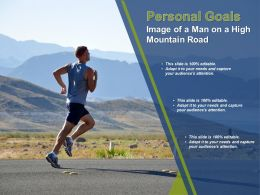 Personal Goals Image Of A Man On A High Mountain Road