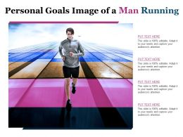 Personal Goals Image Of A Man Running
