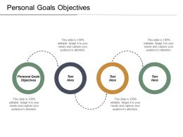 Personal Goals Objectives Ppt Powerpoint Presentation Infographic Template Design Ideas Cpb