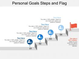 Personal Goals Steps And Flag