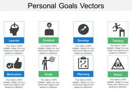 Personal Goals Vectors