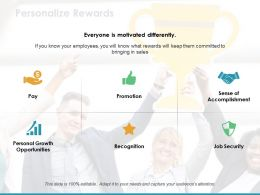 Personal Growth Opportunities Recognition Job Security Sense Of Accomplishment Pay