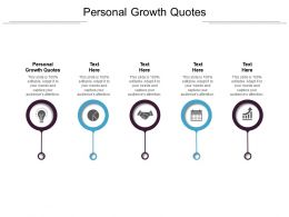 Personal Growth Quotes Ppt Powerpoint Presentation Layouts Show Cpb