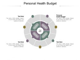 Personal Health Budget Ppt Powerpoint Presentation Styles Visual Aids Cpb