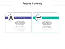 Personal Indemnity Ppt Powerpoint Presentation Layouts Slide Download Cpb