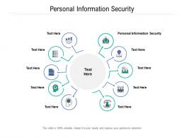 Personal Information Security Ppt Powerpoint Presentation Ideas Graphics Design Cpb