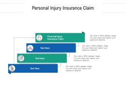 Personal Injury Insurance Claim Ppt Powerpoint Presentation Model Graphics Cpb