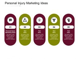 Personal Injury Marketing Ideas Ppt Powerpoint Presentation Infographic Template Outfit Cpb