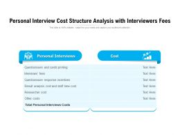 Personal Interview Cost Structure Analysis With Interviewers Fees