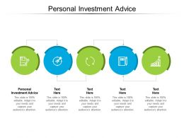 Personal Investment Advice Ppt Powerpoint Presentation Styles Templates Cpb