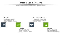 Personal Leave Reasons Ppt Powerpoint Presentation Model Maker Cpb