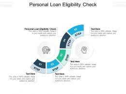 Personal Loan Eligibility Check Ppt Powerpoint Presentation Gallery Layouts Cpb