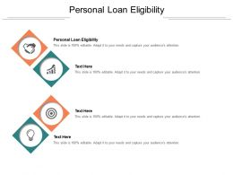 Personal Loan Eligibility Ppt Powerpoint Presentation Inspiration Deck Cpb
