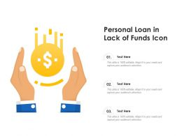 Personal Loan In Lack Of Funds Icon
