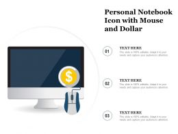 Personal Notebook Icon With Mouse And Dollar