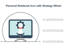 Personal Notebook Icon With Strategy Wheel