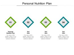 Personal Nutrition Plan Ppt Powerpoint Presentation Layouts Graphics Cpb