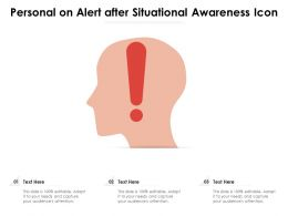 Personal On Alert After Situational Awareness Icon
