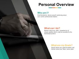 Personal Overview Career Plans Ppt Powerpoint Presentation File Inspiration