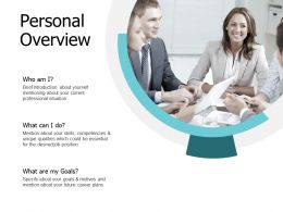 Personal Overview Goal J157 Ppt Powerpoint Presentation File Slides