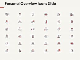 Personal Overview Icons Slide Idea Bulb Ppt Powerpoint Presentation Professional Format