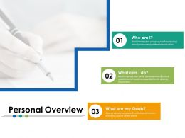 Personal Overview Ppt Powerpoint Presentation File Structure