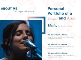 Personal Portfolio Of A Singer And Artist