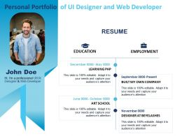 Personal Portfolio Of Ui Designer And Web Developer