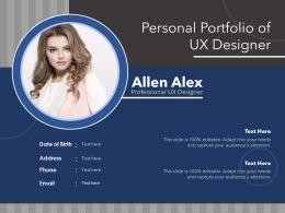 Personal Portfolio Of Ux Designer