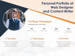Personal Portfolio Of Web Designer And Content Writer