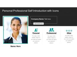 Personal Professional Self Introduction With Icons