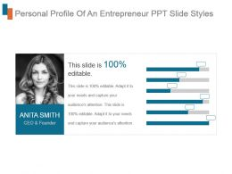 Personal Profile Of An Entrepreneur Ppt Slide Styles