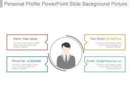 Personal Profile Powerpoint Slide Background Picture