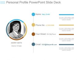 Personal Profile Powerpoint Slide Deck