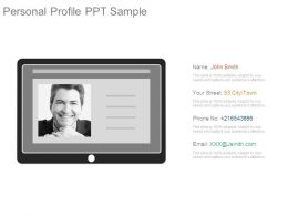 Personal Profile Ppt Sample