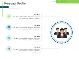 Personal Profile Presenting Oneself For A Meeting Ppt Information