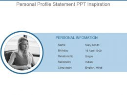 Personal Profile Statement Ppt Inspiration