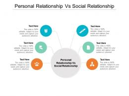 Personal Relationship Vs Social Relationship Ppt Powerpoint Presentation Layouts Ideas Cpb