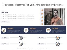 Personal Resume For Self Introduction Interviews Infographic Template