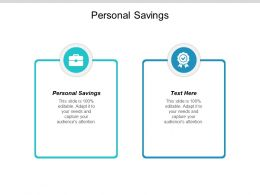 Personal Savings Ppt Powerpoint Presentation Summary Graphics Pictures Cpb