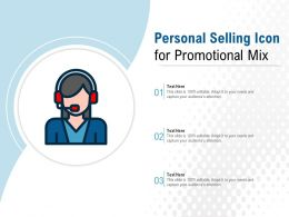 Personal Selling Icon For Promotional Mix