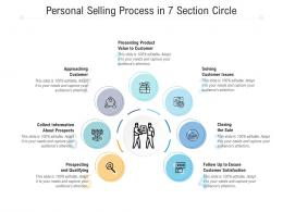 Personal Selling Process In 7 Section Circle