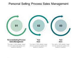 Personal Selling Process Sales Management Ppt Powerpoint Presentation Smartart Cpb