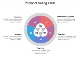 Personal Selling Skills Ppt Powerpoint Presentation File Graphics Design Cpb