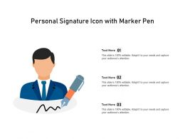 Personal Signature Icon With Marker Pen