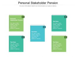 Personal Stakeholder Pension Ppt Powerpoint Presentation Layouts Slide Portrait Cpb