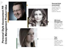 Personal Style Assessment Pr Crisis Management Product Idea Development Cpb