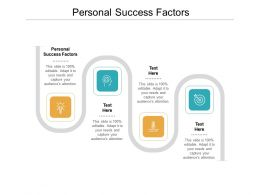 Personal Success Factors Ppt Powerpoint Presentation Icon Ideas Cpb