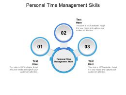 Personal Time Management Skills Ppt Powerpoint Presentation Ideas Maker Cpb