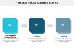 Personal Values Decision Making Ppt Powerpoint Presentation Slides Objects Cpb